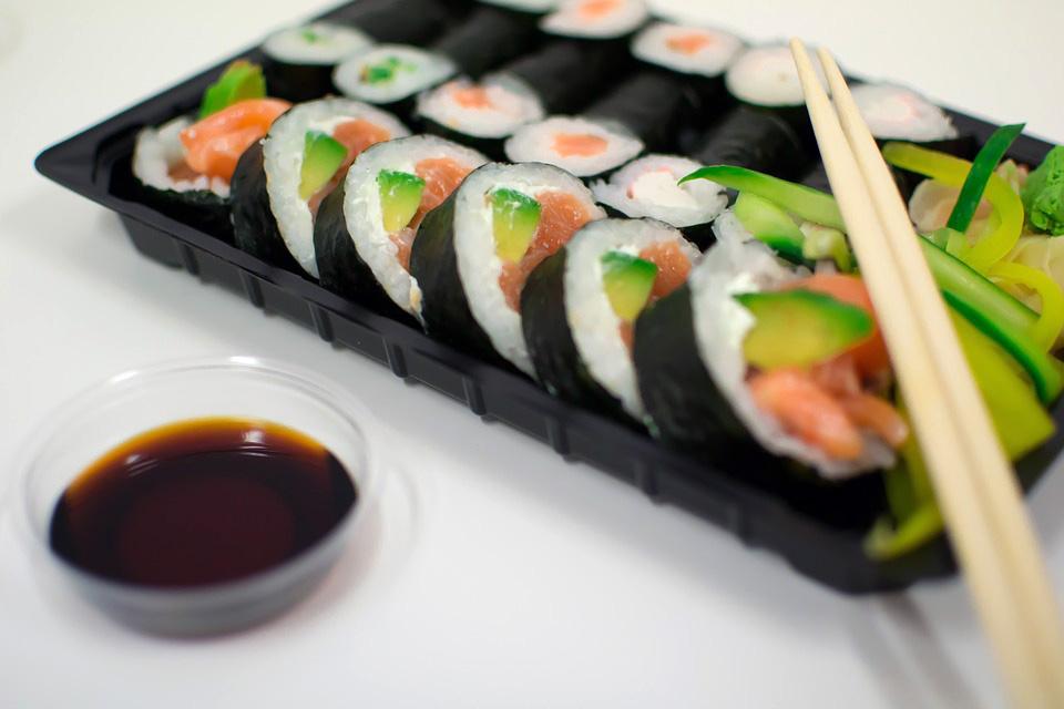 wasabi with sushi